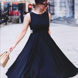 Black ted baker a line dress